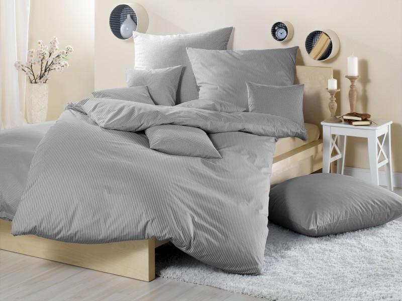 bettw sche gestreift grau bettwasche 2017. Black Bedroom Furniture Sets. Home Design Ideas