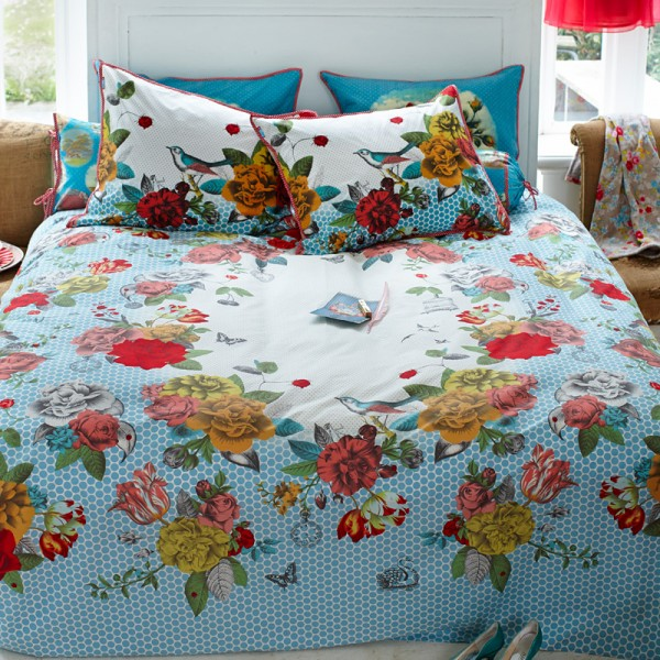 pip studio bettw sche flower bouquet blue 135x200 cm bettw sche baumwoll bettw sche. Black Bedroom Furniture Sets. Home Design Ideas