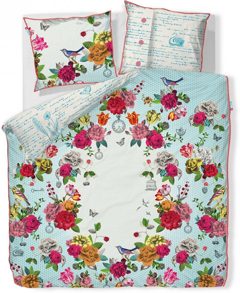 pip studio bettw sche flower bouquet blue 135x200 cm. Black Bedroom Furniture Sets. Home Design Ideas