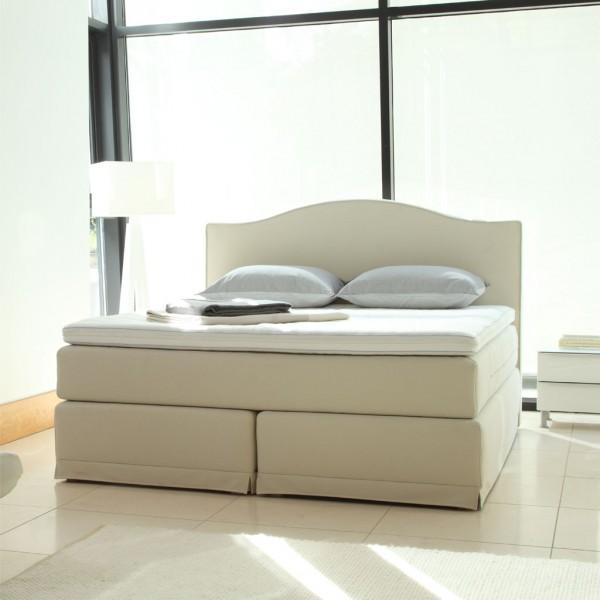 boxspringbett metropolitan grande mit topper kopfteil hamilton beige velda betten boxspringbetten. Black Bedroom Furniture Sets. Home Design Ideas