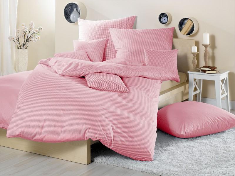 lorena mako batist kinderbettw sche basel kariert rosa bettw sche kariert und gestreift. Black Bedroom Furniture Sets. Home Design Ideas