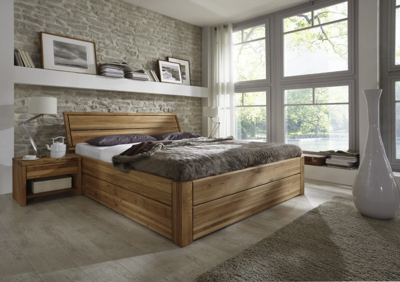tjoernbo bett easy sleep mit bettkasten komforth he 45 cm w nsch dir was eiche kopfteil 1. Black Bedroom Furniture Sets. Home Design Ideas