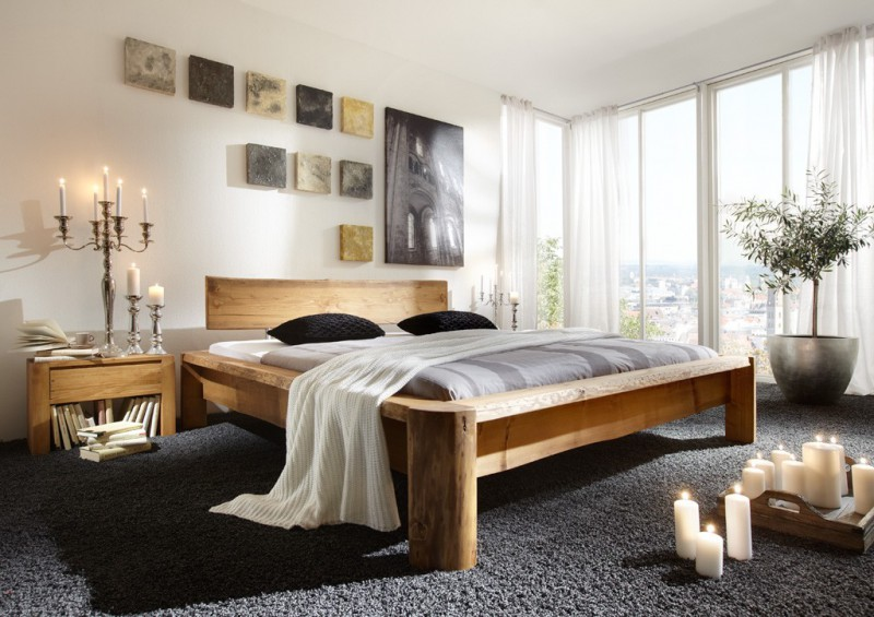 sc koks rustikales massivholzbett tundra nordische kiefer fichte betten massivholzbetten. Black Bedroom Furniture Sets. Home Design Ideas